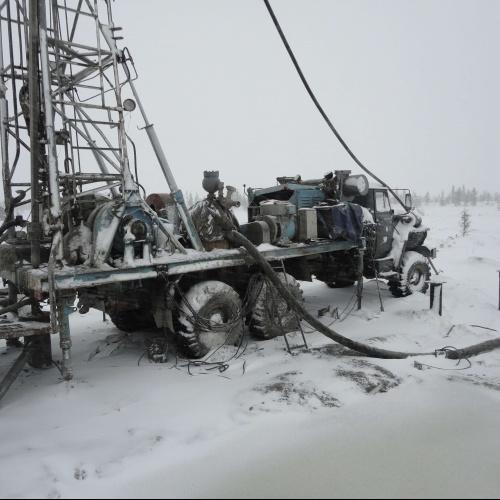 Буровая установка УРБ 3А3 на шасси автомобиля УРАЛ 4320