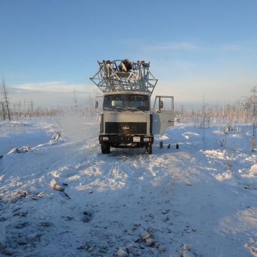 Буровая установка 1БА15В на шасси МАЗ 5337